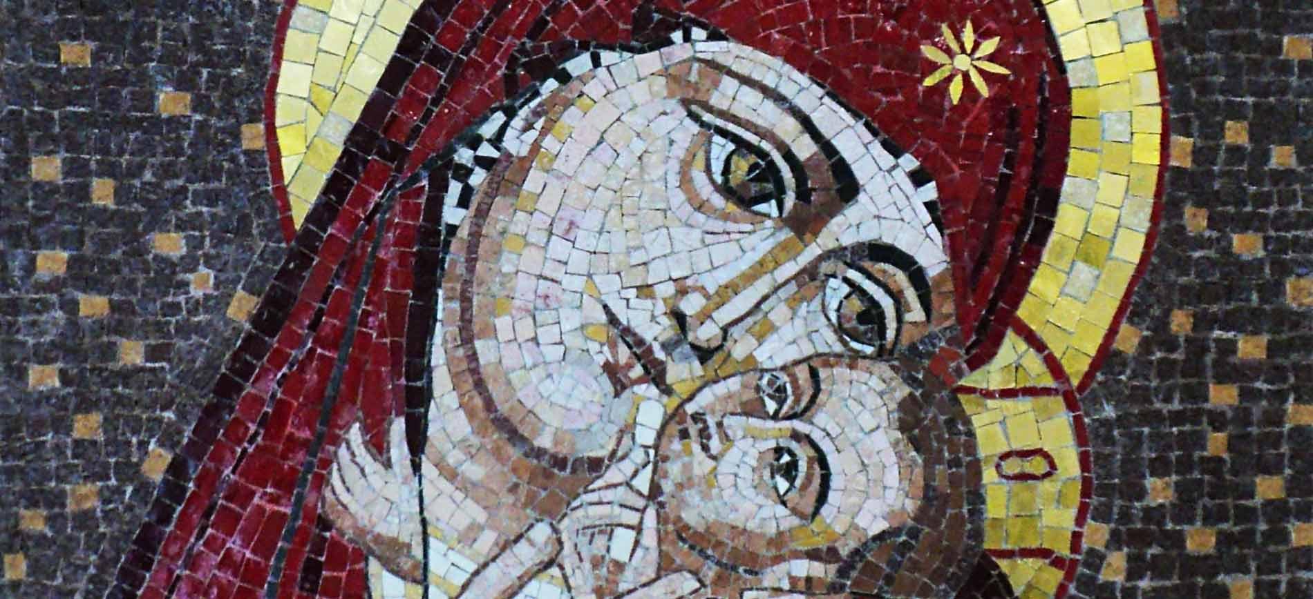 mosaico religioso arte sacra madonna