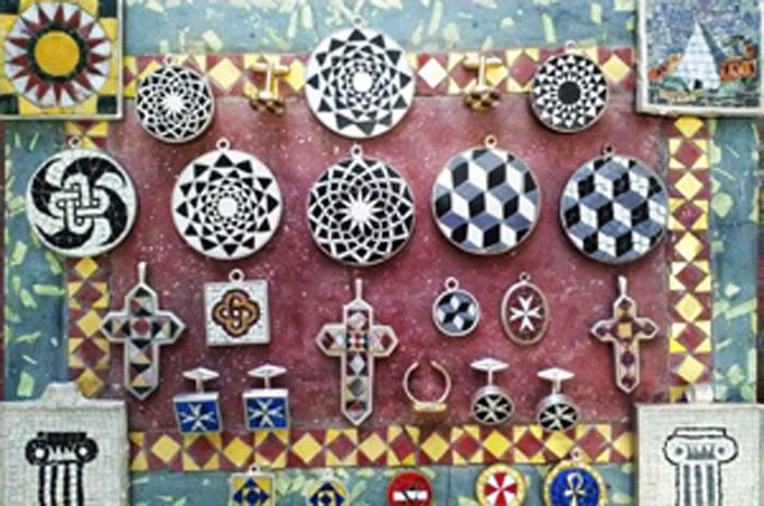 handmade mosaic jewel