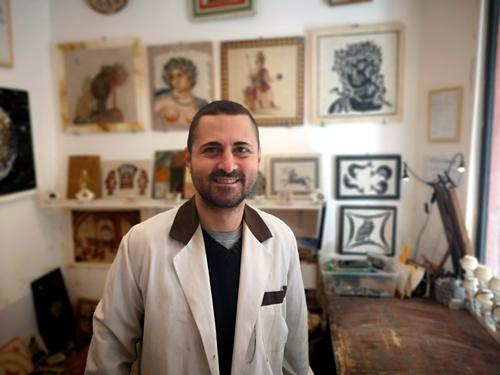 mosaic art studio in rome
