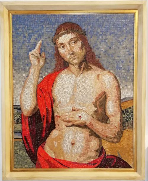 mosaico religioso riproduzione cristo